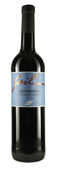 Weingut Geil 2018 Westhofener Spätburgunder, trocken. Vom Weingut Geil.