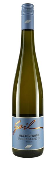 Weingut Geil 2019 Westhofener Kirchspiel Grauer Burgunder trocken Qualitätswein vom Weingut Geil